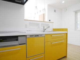 可愛い黄色のキッチン